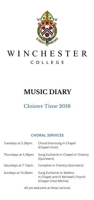 Music Diary Cloister Time 2018 FINAL