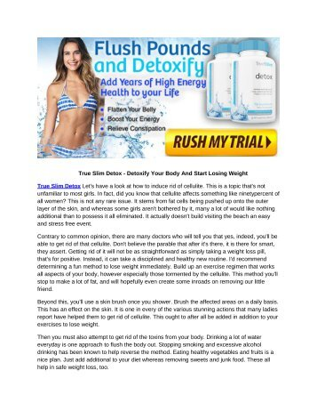 True Slim Detox - The Truth Behind This Natural Weight Loss Supplement