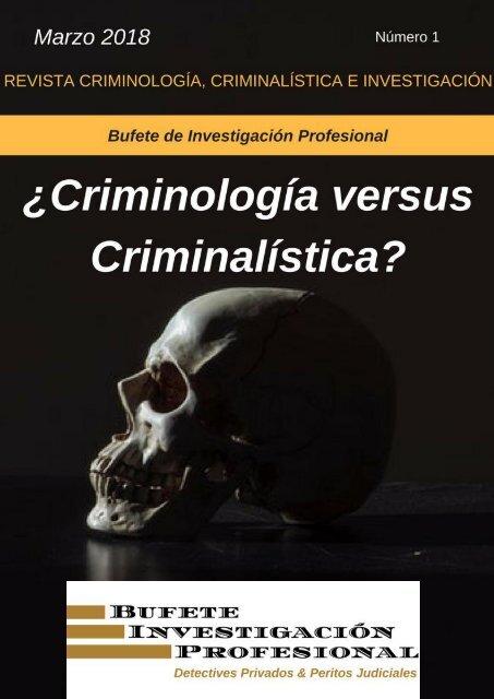 Revista Criminología, Criminalística e Investigación