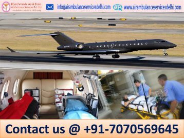 Prominent Air Ambulance Service in Delhi with ICU Setup