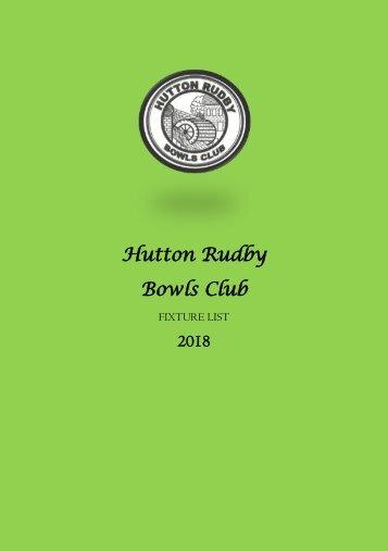 Bowls Fixtures 2018 PDF