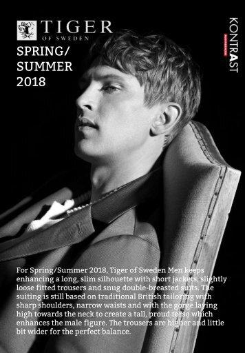Tiger of Sweden Lookbook Spring/Summer 2018