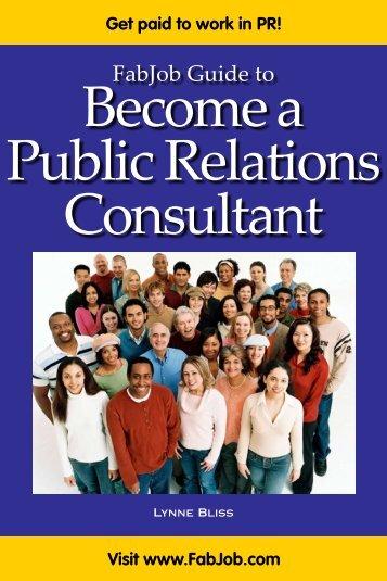 Become a Public Relations Consultant - Fabjob.com