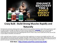 Crazy Bulk : Natural supplement that gives you lean muscle