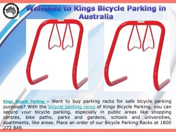 Bicycle Parking Racks Service in Australia