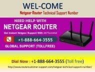 Netgear Router Customer Support Number +1-888-664-3555