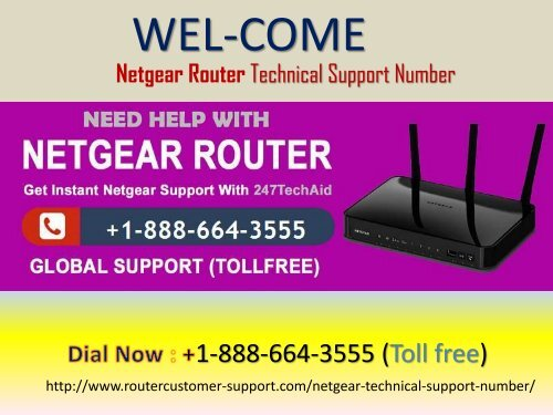 Netgear Router Customer Support Number +1-888-664-3555