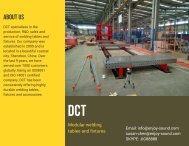DCT 3D welding table and fixture catalog