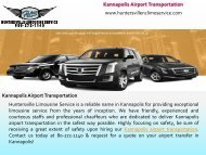 Kannapolis Airport Transportation Service