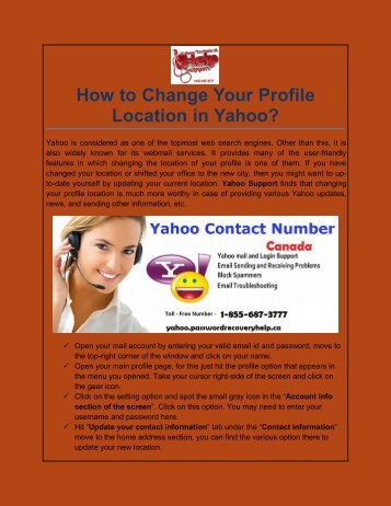 How to Change Your Profile Location in Yahoo