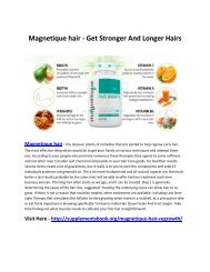 Magnetique hair - Get Longer Hair