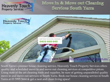 Move in & Move out Cleaning Services in South Yarra