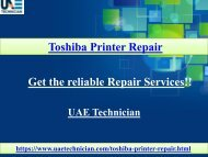 Call@+971-523252808 to get the support for Toshiba Printer Repair Service