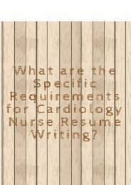 What are the Specific Requirements for Cardiology Nurse Resume Writing?