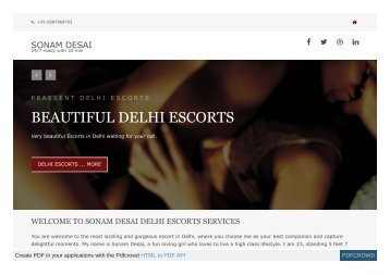 Independent Escorts services in Delhi