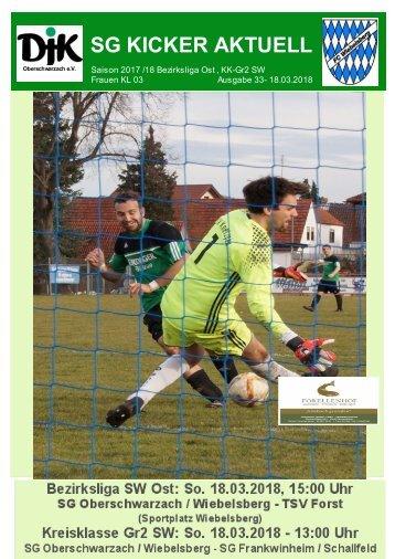 Stadionheft SG-KICKER-AKTUELL-Ausgabe-33 18.03.2019