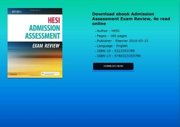 Download ebook Admission Assessment Exam Review, 4e read online