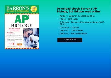 Download ebook Barron s AP Biology, 6th Edition read online