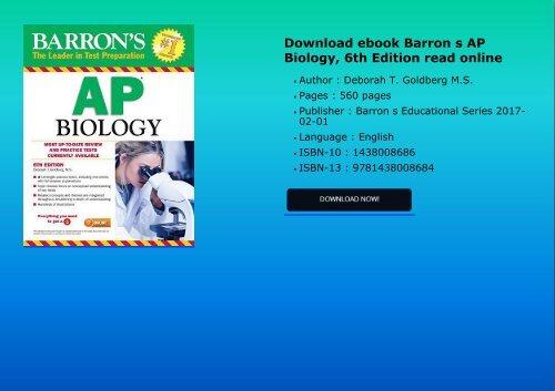 Download Ebook Barron S Ap Biology 6th Edition Read Online