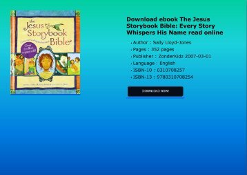 Download ebook The Jesus Storybook Bible: Every Story Whispers His Name read online