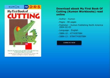 Download ebook My First Book Of Cutting (Kumon Workbooks) read online
