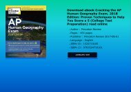 Download ebook Cracking the AP Human Geography Exam, 2018 Edition: Proven Techniques to Help You Score a 5 (College Test Preparation) read online