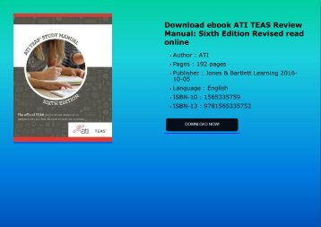 Download ebook ATI TEAS Review Manual: Sixth Edition Revised read online