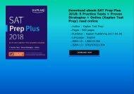 Download ebook SAT Prep Plus 2018: 5 Practice Tests + Proven Strategies + Online (Kaplan Test Prep) read online