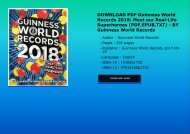 DOWNLOAD PDF Guinness World Records 2018: Meet our Real-Life Superheroes (PDF,EPUB,TXT) - BY Guinness World Records