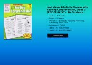 read ebook Scholastic Success with Reading Comprehension, Grade 3 (PDF,EPUB,TXT) - BY Scholastic