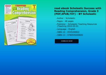 Download ebook scholastic success with reading comprehension grade read ebook scholastic success with reading comprehension grade 3 pdfepub txt fandeluxe