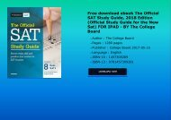 Free download ebook The Official SAT Study Guide, 2018 Edition (Official Study Guide for the New Sat) FOR IPAD - BY The College Board