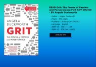 READ Grit: The Power of Passion and Perseverance FOR ANY DEVICE - BY Angela Duckworth