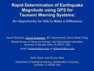Rapid Determination of Earthquake Magnitude using GPS for ...