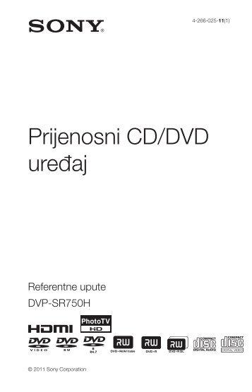 Sony DVP-SR750H - DVP-SR750H Consignes d'utilisation Croate