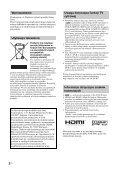 Sony KDL-52W3000 - KDL-52W3000 Mode d'emploi Polonais - Page 2