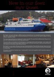 New in our fleet: m/v Quest - agentur für erlebnisreisen