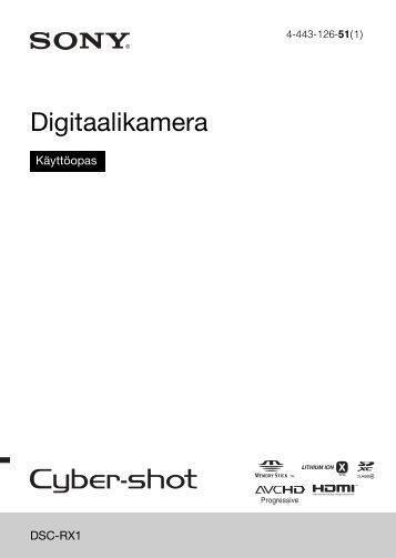 Sony DSC-RX1 - DSC-RX1 Consignes d'utilisation Finlandais