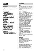 Sony DSC-RX1 - DSC-RX1 Consignes d'utilisation Finlandais - Page 2