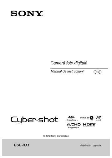 Sony DSC-RX1 - DSC-RX1 Mode d'emploi Roumain