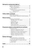 Sony DSC-RX1 - DSC-RX1 Consignes d'utilisation Slovaque - Page 6