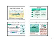 Wave Dynamics And Wind Waves Review: Ocean Waves ... - SOEST