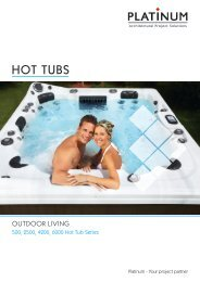 0013 Platinum Hot Tub Brochure