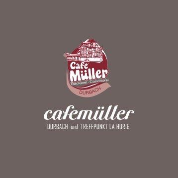 Hausprospekt Café Müller, Durbach und Offenburg