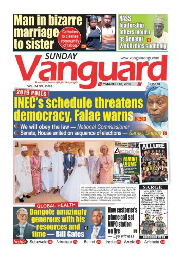 18032018 - 2019 POLLS: INEC schedule threatens demoncracy, Falae warns