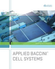 APPLIED BACCINI® CELL SYSTEMS - Applied Materials