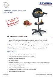 Severin PG 8541 Gril barbecue - Istruzioni d'uso