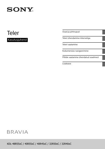 Sony KDL-48R555C - KDL-48R555C Istruzioni per l'uso Estone