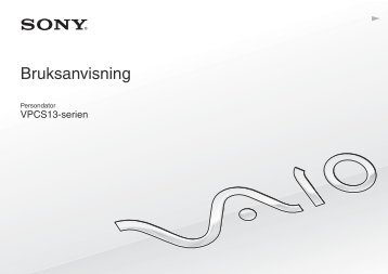 Sony VPCS13X9R - VPCS13X9R Mode d'emploi Suédois
