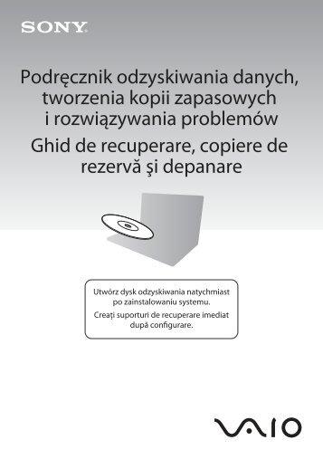 Sony VPCS13X9R - VPCS13X9R Guide de dépannage Polonais